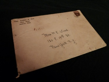 The envelope, addressed to Margretta Wood. Stott and the Wood family kept up a correspondence following Phil's death.