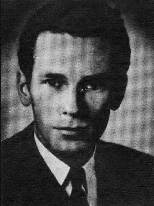 "Clark Kuney's post-war headshot. According to Hans J. Wollstein, a Marine veteran named Clark Kuney auditioned for the part of ""corpse"" in the 1946 B-movie ""The Face of Marble."""