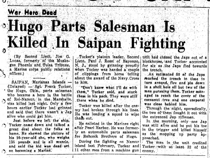 Miami (Oklahoma) Daily News-Record, July 10 1944.