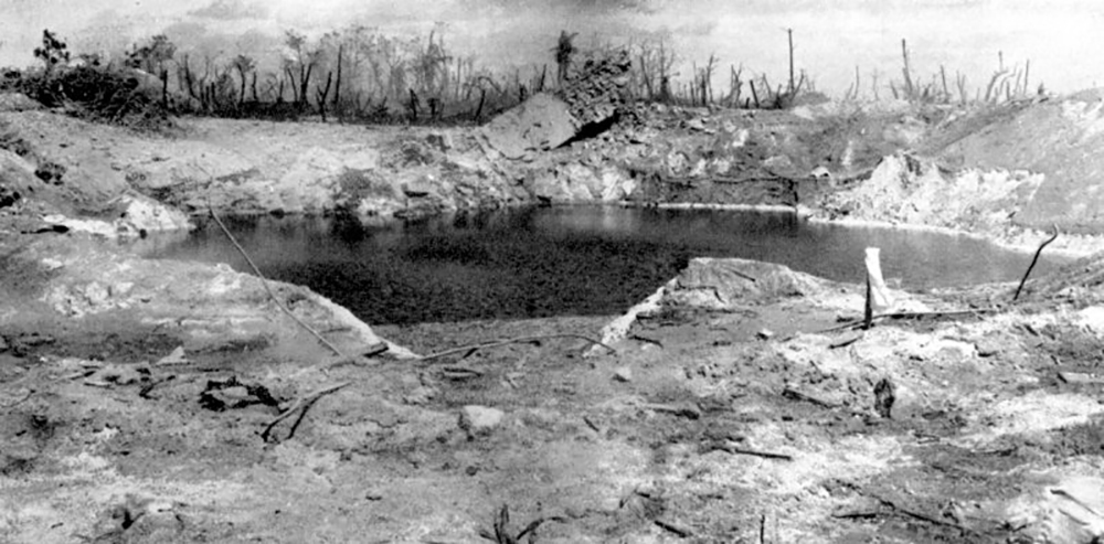 The blockhouse crater immediately filled with water, leading to jokes (and a few fears) that the island would sink.