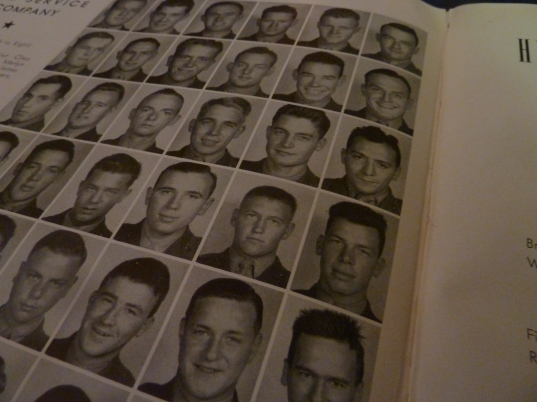 Many of the images found throughout this site come from Fagan's Red Book. Future movie star Lee Marvin is at right, second row from the bottom.