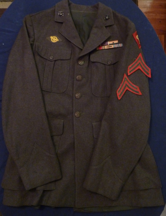 Donald Jettenberg wore this blouse home in December, 1945. The corporal chevrons were detached at some point.
