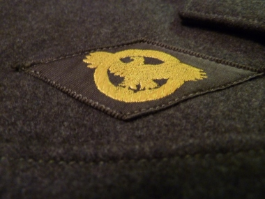 """The """"ruptured duck"""" affixed to the uniforms of all honorably discharged personnel."""