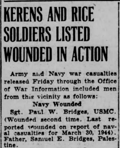 The Corsicana (Texas) Daily Sun, 13 April 1945.