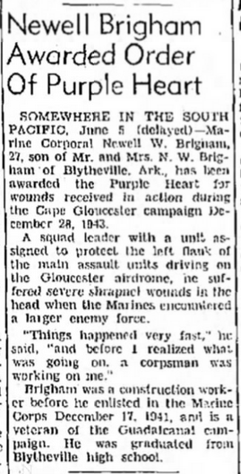 The Courier News, Blytheville AR, 12 July 1944.