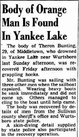 Kingston (NY) Daily Freeman, 13 October 1959.