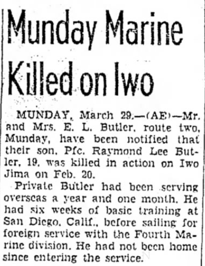 The Abilene Reporter-News, 29 March 1945.
