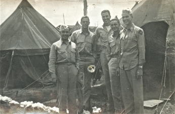 "Unknown Marine, Doc ""Little Dick"" Lyon, Doc ""Big Dick"" Porter, Major Irving Schechter, Captain Joe Swoyer."