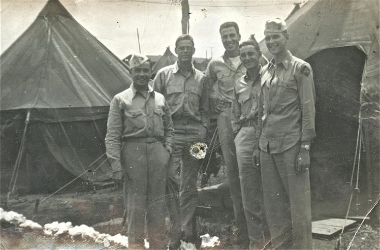 "Unknown Marine, Doc ""Little Dick"" Lyon, Doc ""Big Dick"" Porter, Major Irving Schechter, Captain Joe Swoyer."