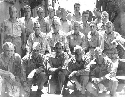 The surviving officers of First Battalion after Iwo Jima.