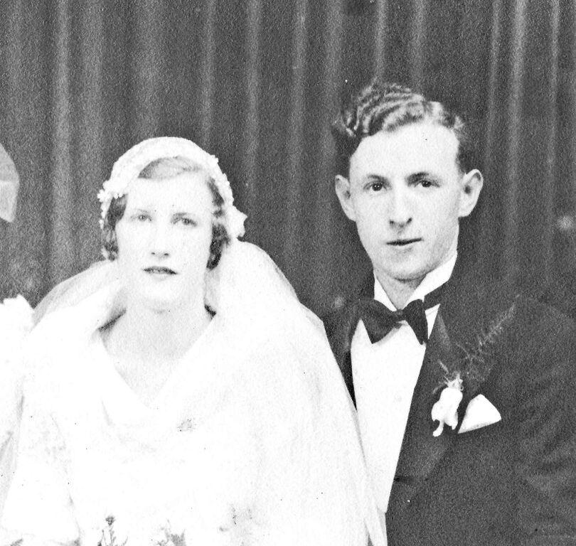 Anna and Al Callahan at their wedding, early 1930s. Photograph courtesy of Martin Treu.
