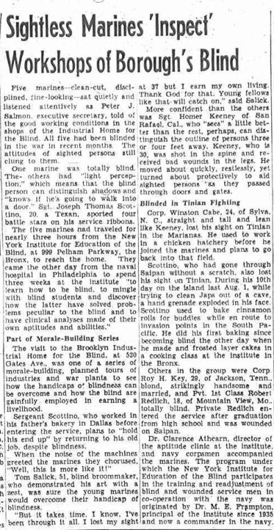 Brooklyn Eagle, January 20 1945.