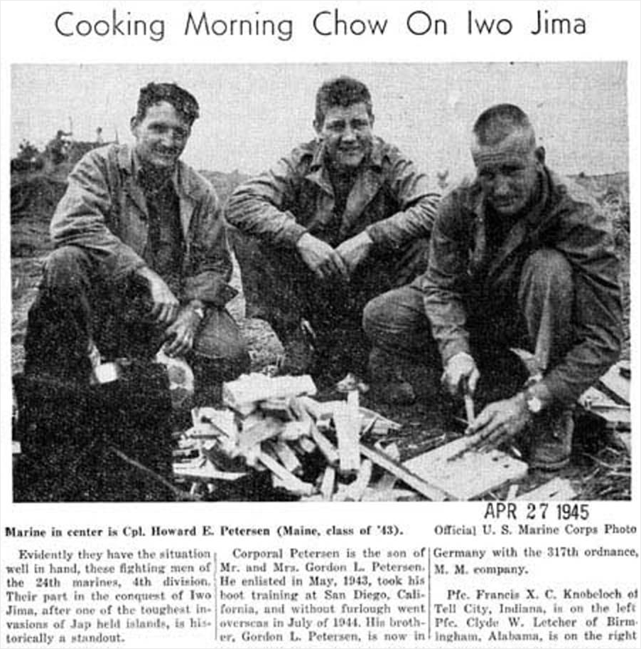 Cooking Morning Chow on Iwo Jima