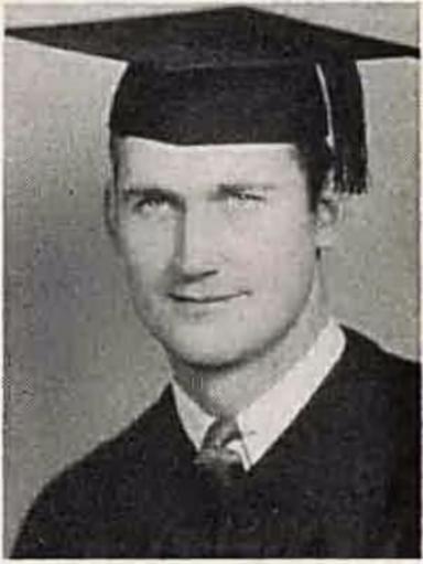 """""""Heinie"""" Schultz graduates college, 1936."""
