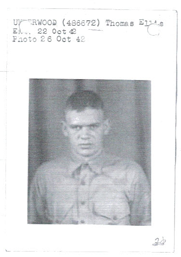 Thomas Underwood's enlistment photo, taken at Parris Island, 1942.