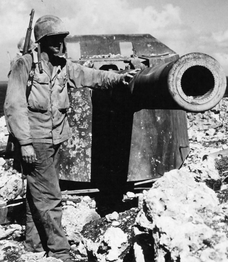 PFC Charles W. Ammons of the 27th Division, June 28, 1944. US Army Photo; Rosecrans.