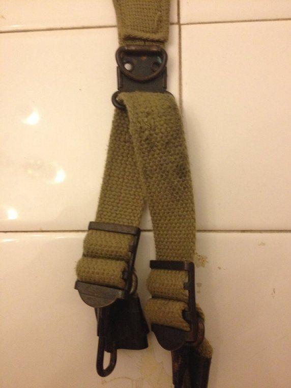 Army GI-issue strap.