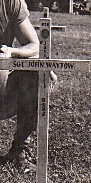 A close-up of Sgt. Waytow's grave from the previous photograph.