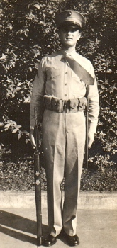 Waytow made PFC in April, 1942, while serving with the Service Battalion of MCB Quantico. He operated equipment in the post telephone exchange.