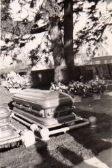 John Waytow's casket in Gettysburg National Cemetery, 1948.
