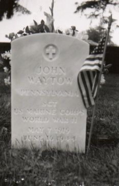 John Waytow's final resting place.