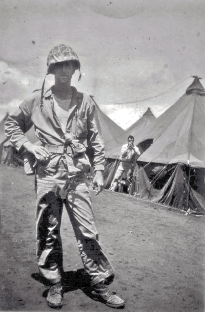 Lieutenant Wood in his field gear, Camp Maui.