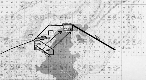 1/24's movements in the attack on July 5. Company C was in battalion reserve, and due to terrain became somewhat separated from the battalion.