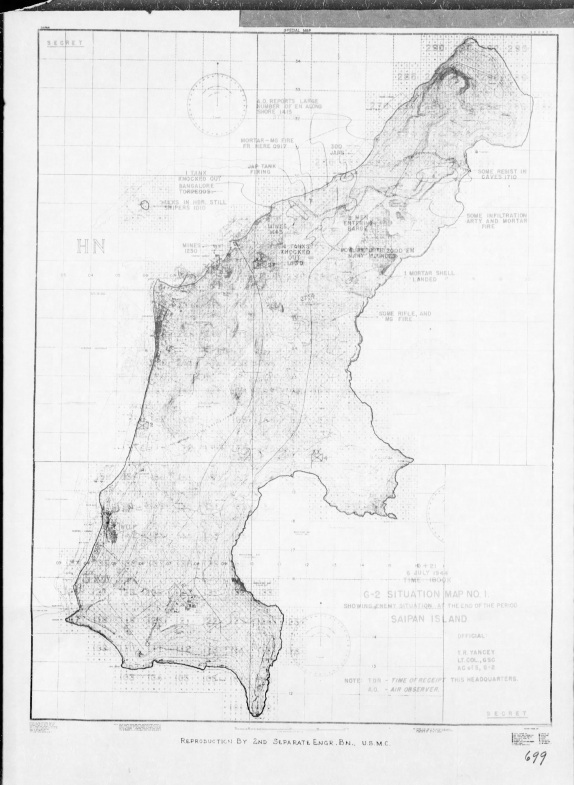Map of the same period, prepared from POW reports.