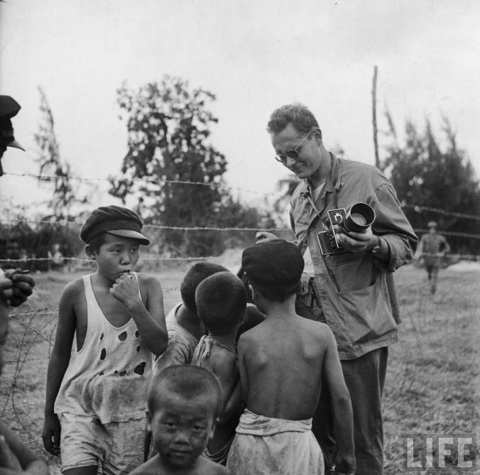 W. E. Smith, also popular with Saipan children. Photo by LIFE.