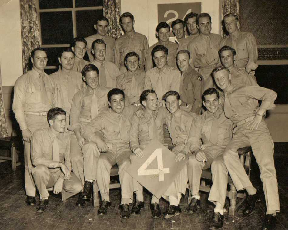 An unidentified group of Marines. PFC Krieve is third from right in the back row.
