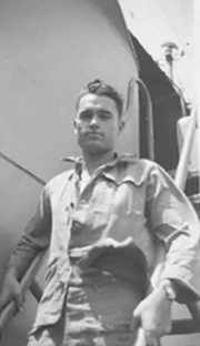 Al Perry aboard the Hendry. Photo from www.semper-fi.us