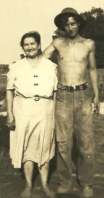 Edith Miller and her son, Gilbert.