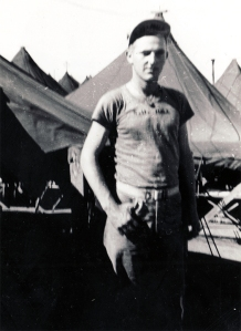 The only identifiable Marine: PFC S. D. Hall. Stuart Delbert Hall was a replacement who joined Charlie Company in April, 1945.