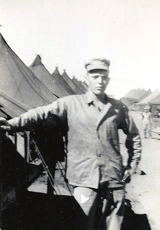 PFC Gilliam in the company street.