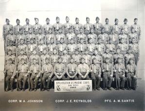 Gilliam's boot camp graduation photo, December 1943.