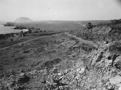 The Marines couldn't see the Japanese - but from this position, the Japanese could see Company A clearly.