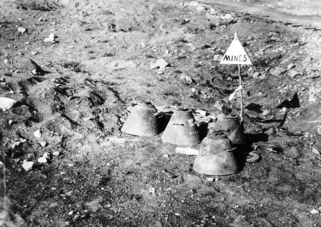 A selection of Japanese mines found on Iwo Jima. USMC photo.