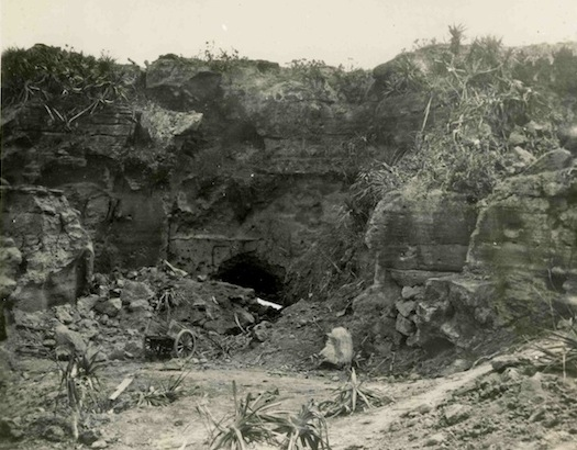Jack Manning believed this was the cave his men destroyed.