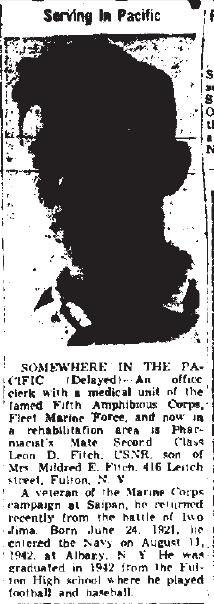 Oswego Palladium Times, August 29 1945.