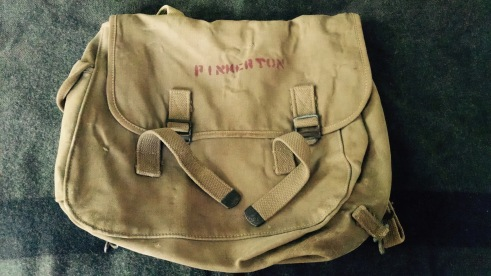 "Pinkerton's M1941 haversack, the ""upper"" of his 782 gear."