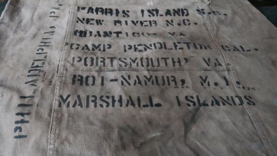 Stenciling one's seabag with one's duty stations was a popular pastime.