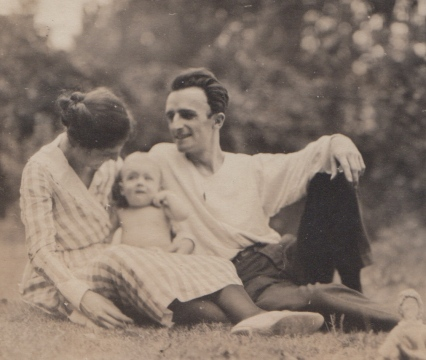 Baby Phil, with mother Gretta and father Philip Senior, 1920.