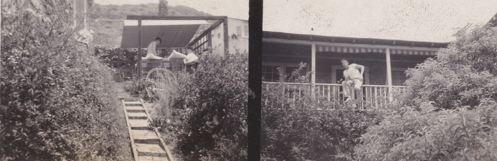 This un-captioned photo from Margretta's album may show Phil's house in the hills–a honeymoon home converted into a weekend BOQ.