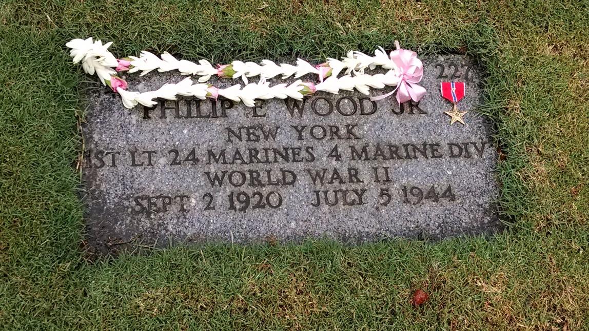 Phil's grave in 2014.