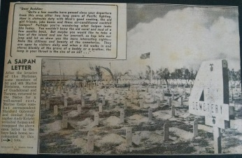 The division cemetery.