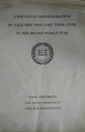 Program for the Yale memorial service