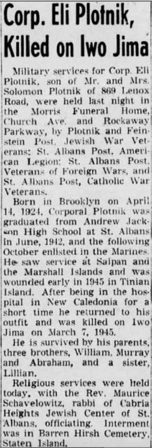 Brooklyn Daily Eagle, 20 Oct. 1948.