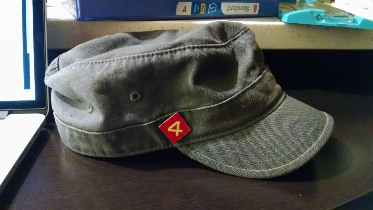 """Nice lookin' go-to-hell cap."" - Gunga"