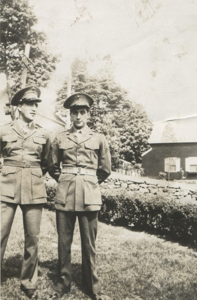 The Paulini boys - Sil and Joseph - back at home after the war. Photo courtesy of Joe Paulini.