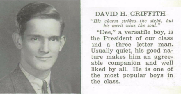 Senior class president, Prospect Park High School, 1938.